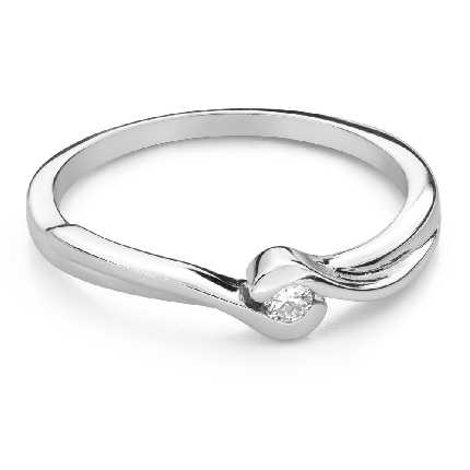 """Engagement ring with brilliant """"In love 74"""""""