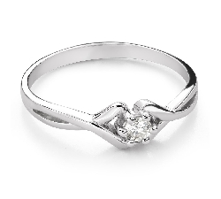"""Engagement ring with brilliant """"Intertwined destinies 77"""""""