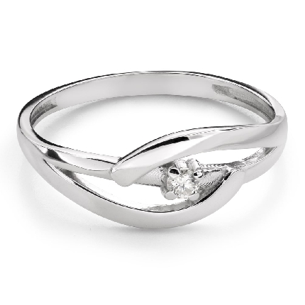 """Engagement ring with brilliant """"Intertwined destinies 78"""""""