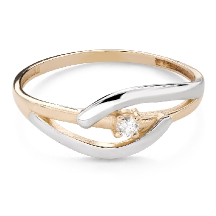 """Engagement ring with brilliant """"Intertwined destinies 79"""""""