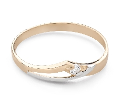 """Engagement ring with brilliant """"In love 75"""""""
