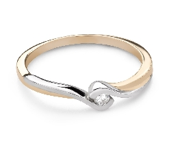 """Engagement ring with brilliant """"In love 76"""""""