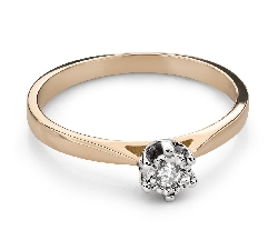 """Engagement ring with brilliant """"Lover 155"""""""