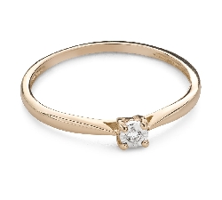 """Engagement ring with brilliant """"Lover 156"""""""