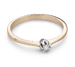 """Engagement ring with brilliant """"Purity 64"""""""