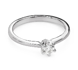 """Engagement ring with brilliant """"The queen 132"""""""