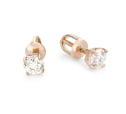"""Gold earrings with brilliants """"Classic 77"""""""
