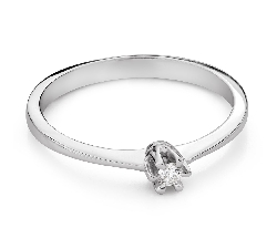 """Engagement ring with brilliant """"The queen 133"""""""