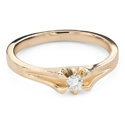 """Engagement ring with brilliant """"The only one 170"""""""