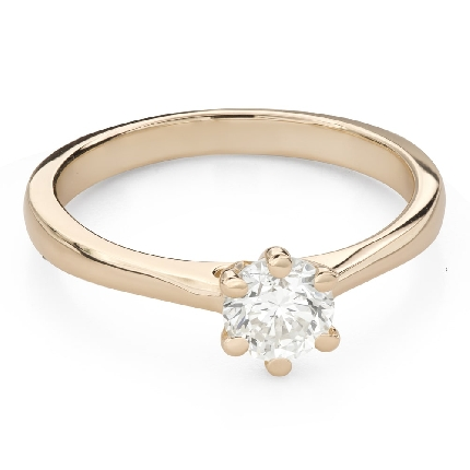 """Engagement ring with brilliant """"The queen 135"""""""