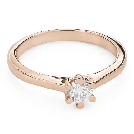 """Engagement ring with brilliant """"The queen 134"""""""