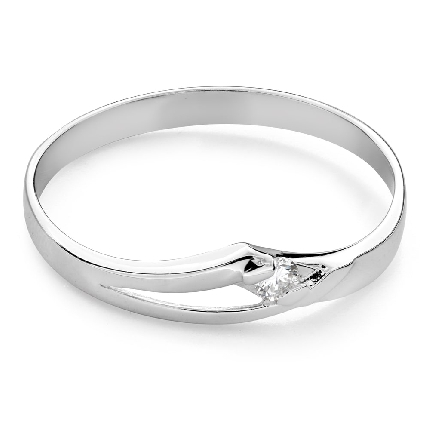 """Engagement ring with brilliant """"Intertwined destinies 81"""""""