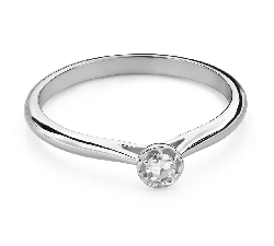 """Engagement ring with brilliant """"Flower 12"""""""