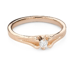 """Engagement ring with brilliant """"The only one 171"""""""