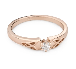 """Engagement ring with brilliant """"The only one 172"""""""