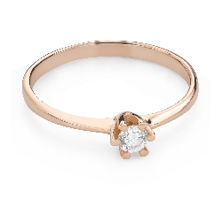 """Engagement ring with brilliant """"The queen 136"""""""