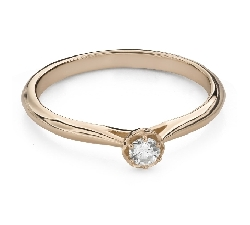 """Engagement ring with brilliant """"Flower 15"""""""
