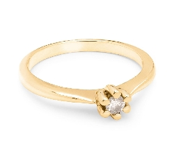 """Engagement ring with brilliant """"Purity 10"""""""