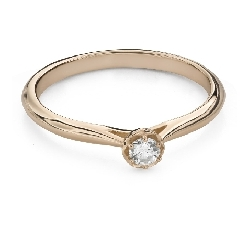 """Engagement ring with brilliant """"Flower 17"""""""