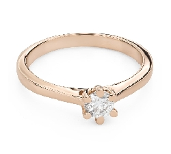 """Engagement ring with brilliant """"Queen of the Heart 45"""""""