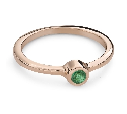 """Engagement ring with gemstones """"Emerald 23"""""""