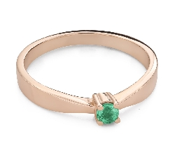 """Engagement ring with gemstones """"Emerald 24"""""""