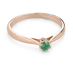 """Engagement ring with gemstones """"Emerald 25"""""""