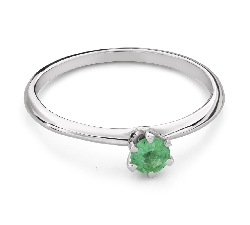 """Engagement ring with gemstones """"Emerald 26"""""""