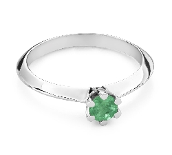 """Engagement ring with gemstones """"Emerald 27"""""""