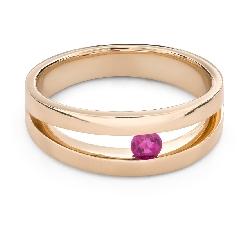 """Auksinis žiedas su brangakmeniais """"Rubinas 46"""""""