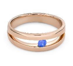"""Auksinis žiedas su brangakmeniais """"Safyras 47"""""""