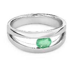"""Auksinis žiedas su brangakmeniais """"Smaragdas 28"""""""