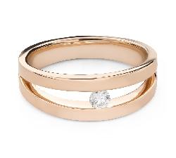 """Auksinis žiedas su briliantu """"Tarp uolų 78"""""""