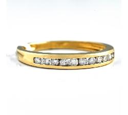 """Auksinis žiedas """"Deimantinė juostelė 12"""""""
