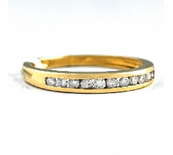 """Auksinis žiedas """"Deimantinė juostelė 8"""""""