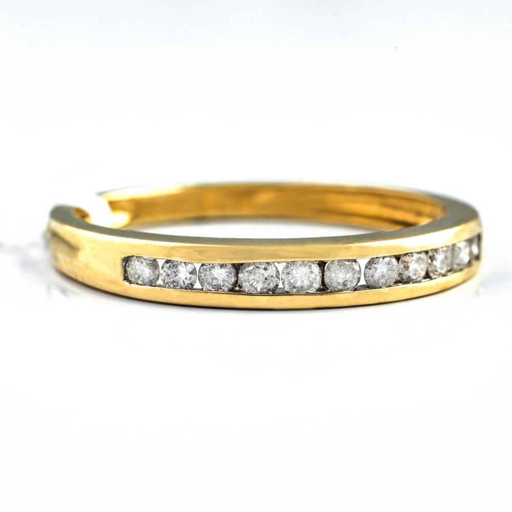 "Gold ring with brilliants ""Diamond strip 12"""