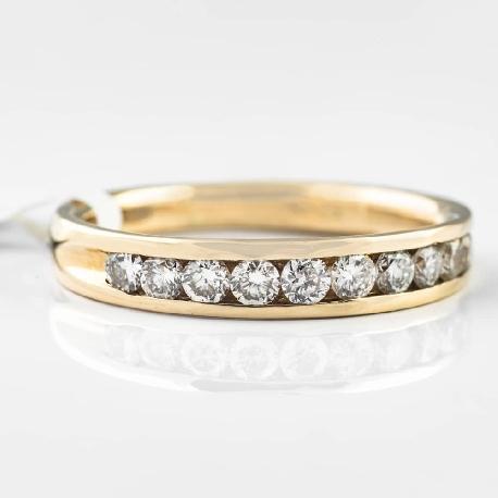 """Auksinis žiedas """"Deimantinė juostelė 9"""""""