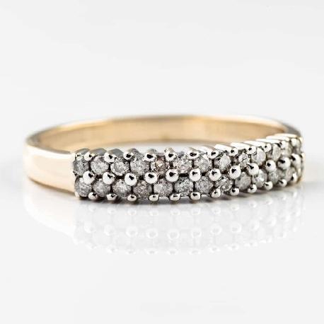 """Auksinis žiedas su Briliantu """"Deimantinė juostelė 10"""""""