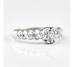 "Engagment ring with brilliants ""Life 2"""