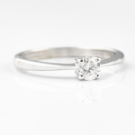 "Auksinis žiedas su Briliantu ""Deimantas 12"""