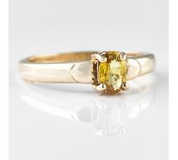 """Auksinis žiedas su Safyru """"Saulė"""""""