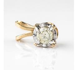 Balto aukso žiedas su Cirkoniais ir Briliantuku