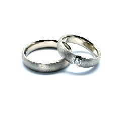 "Golden wedding rings with diamonds ""VKA 127"""