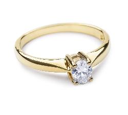 Aukso žiedas su Briliantais
