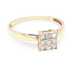 """Auksinis žiedas su Briliantais """"Princesė II"""""""