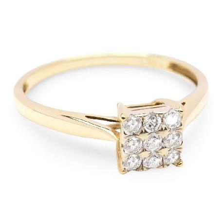 """Auksinis žiedas su Briliantais """"Devynių galia"""""""