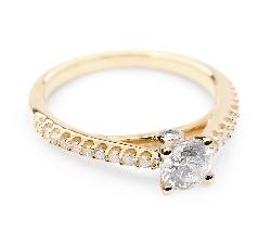 """Auksinis žiedas su Briliantais """"Grakštumas 13"""""""