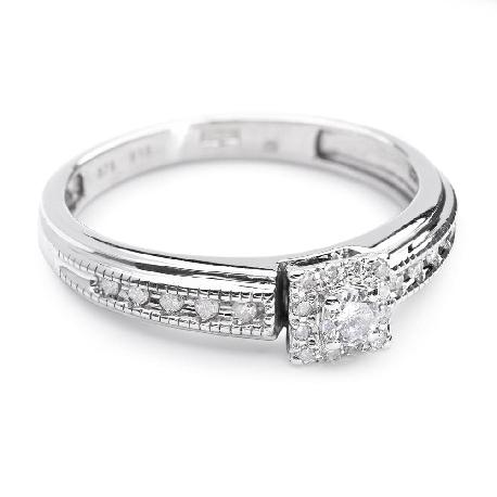 """Auksinis žiedas su Briliantais """"Grakštumas 16"""""""