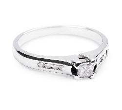 """Auksinis žiedas su Briliantais """"Grakštumas 17"""""""